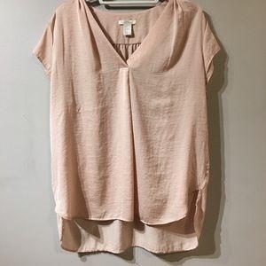 H & M Soft Pink Short-Sleeve Blouse